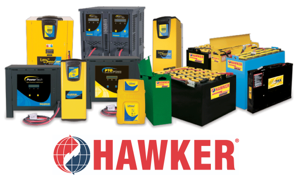 Hawker Forklift Battery and Charger Montage